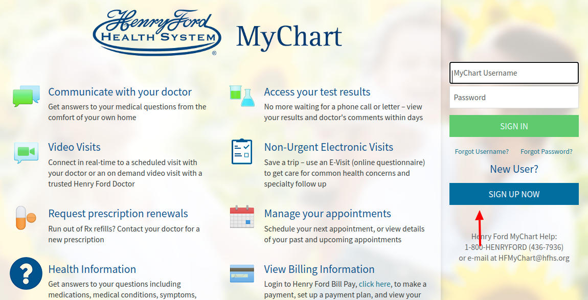 Henry Ford MyChart Sign Up