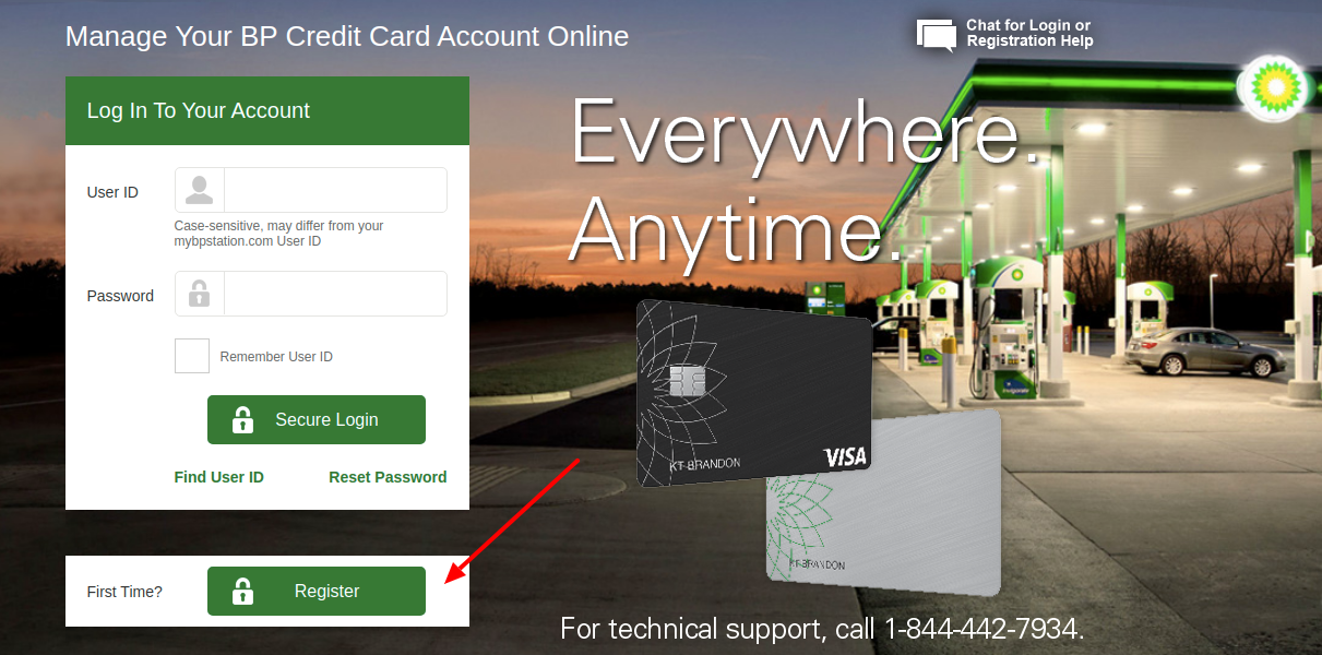 BP Credit Card Register