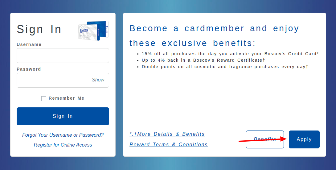 Boscovs Credit Card Apply
