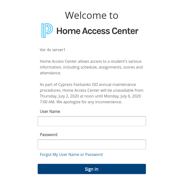 Power School Home Access Login