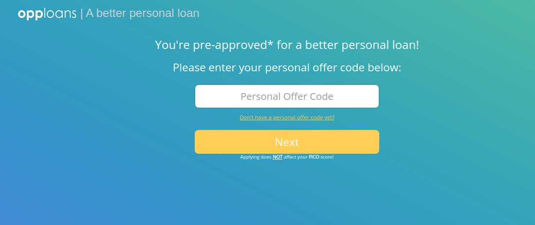 OppLoans personal loan Apply