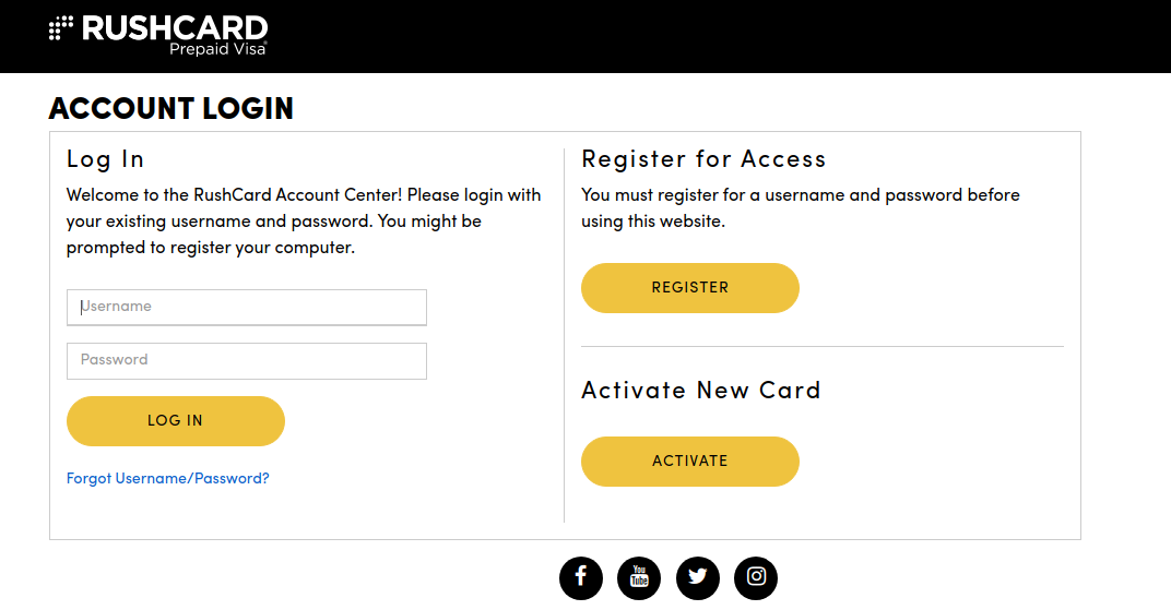 RushCard Card Login