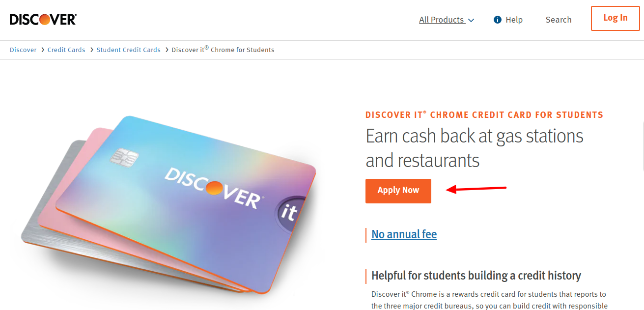 Discover Chrome-Student-Credit-Card apply